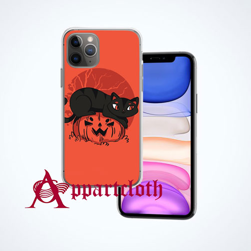 Black Cat Halloween iPhone Case and Cover
