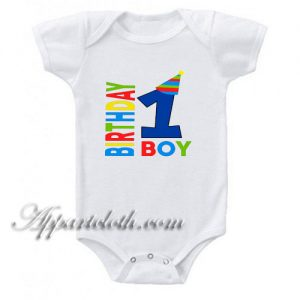 Boy Birthday Party Funny Baby Onesie