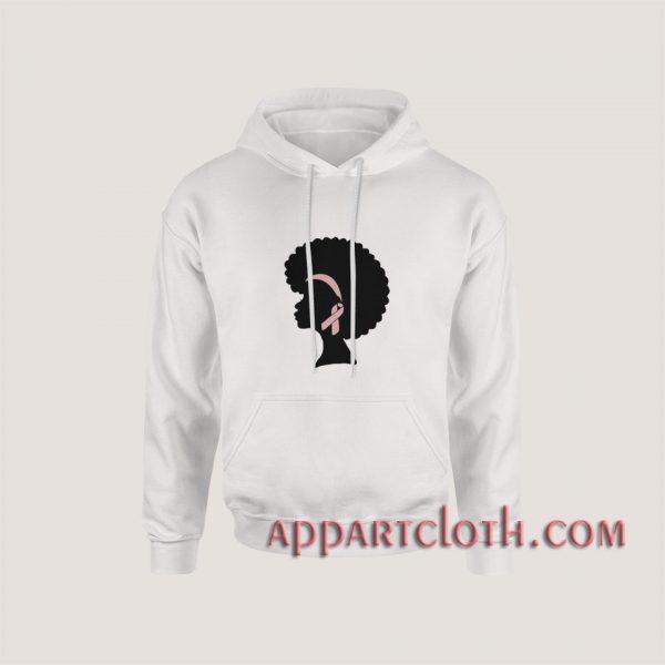 Breast Cancer Black Woman Hoodies