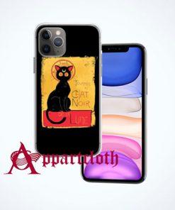 Chat Noir de la Lune iPhone Case and Cover