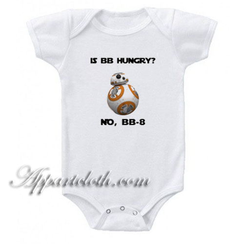 Cute Star Wars BB8 - Is BB Hungry Funny Baby Onesie