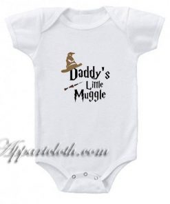 Daddy's Little Muggle Funny Baby Onesie