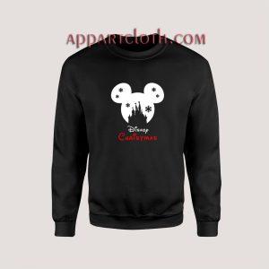 Disney SNOWFLAKE CASTLE Mickey Unisex Sweatshirts