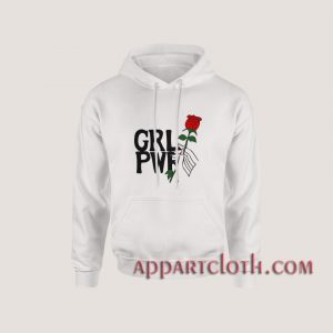 Girl power hand up with rose Hoodies