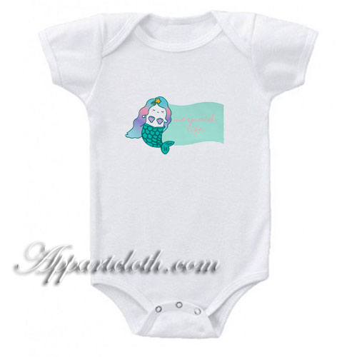 Mermaid Life Funny Baby Onesie