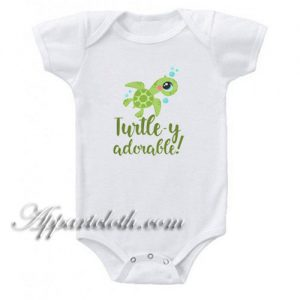 Turtley Adorable Funny Baby Onesie