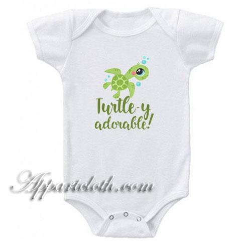 Turtley Adorable Funny Baby Onesie