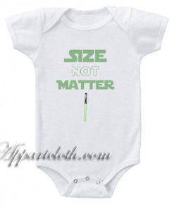 Yoda Size Not Matter Funny Baby Onesie