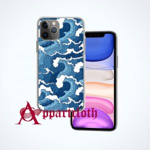 Blue Wave Aesthetic iPhone Case Cover