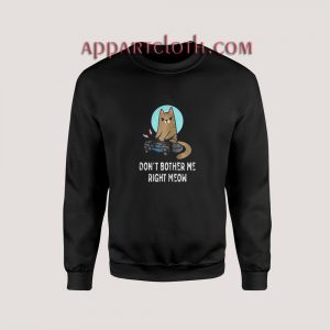 CAT DONT BOTHER ME RIGHT MEOW Sweatshirts