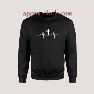 Cross Heartbeat Christian Sweatshirts