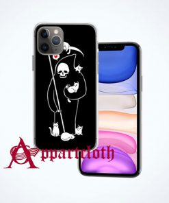 Death Is A Cat Person iPhone Case Cover