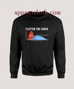 Flatten The Curve Graphic Sweatshirts