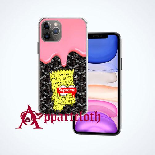 Goyard Supreme Bart Simpson iPhone Case Cover