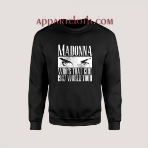 Madonna Who's That Girl 1987 World Tour Sweatshirts