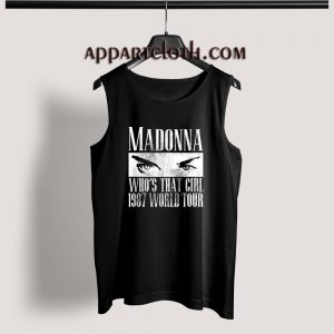 Madonna Who's That Girl 1987 World Tour Tank Top