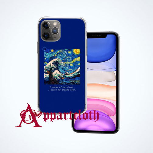 Starry Night Van Gogh Aesthetic iPhone Case Cover