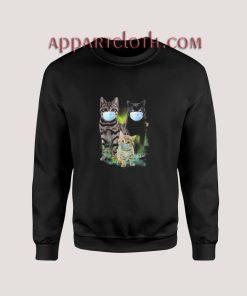 Cute Cat Wear Face Mask Sweatshirt