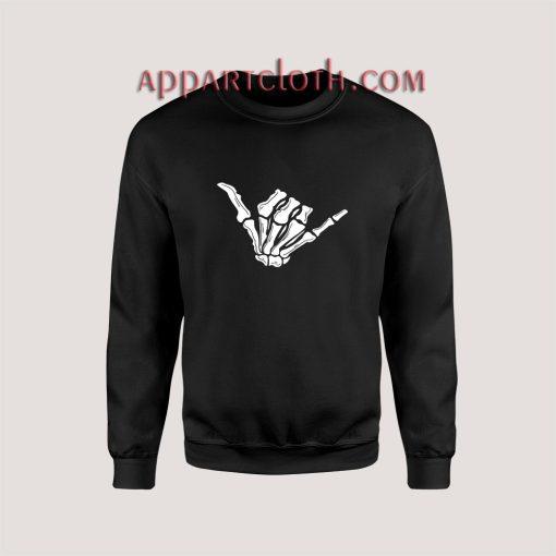Skeleton Hand Shaka Sweatshirt