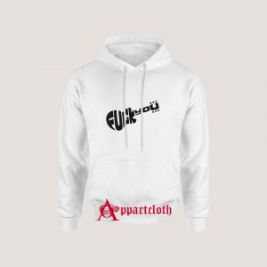 Ladies fitted F you worn by slash guns Hoodie