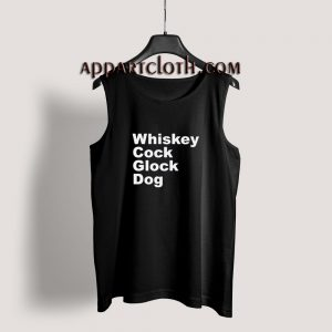 Whiskey Cock Glock Dog Tank Top