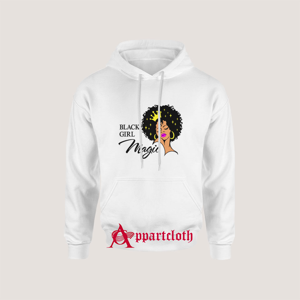 Black Girl Magic Lady Woman With Crown Hoodie for Unisex