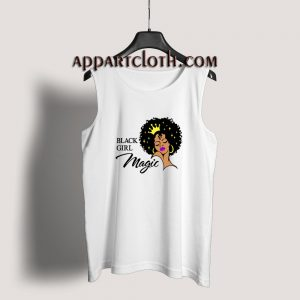 Black Girl Magic Lady Woman With Crown Tank Top