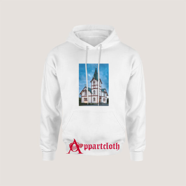 Husavik Church Iceland Hoodie for Unisex