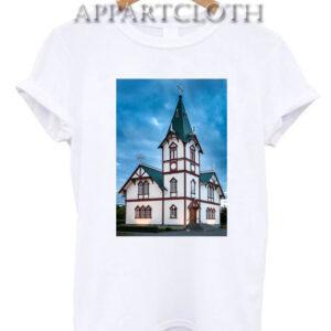 Husavik Church Iceland T-Shirt for Unisex