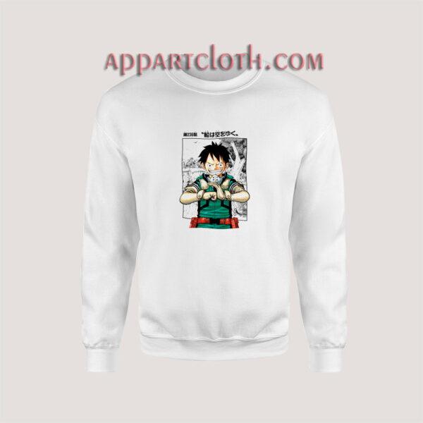 Luffy x Midoriya Sweatshirt