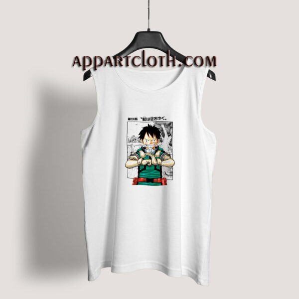 Luffy x Midoriya Tank Top