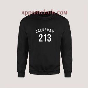 213 Crenshaw LA Edition Sweatshirt for Unisex