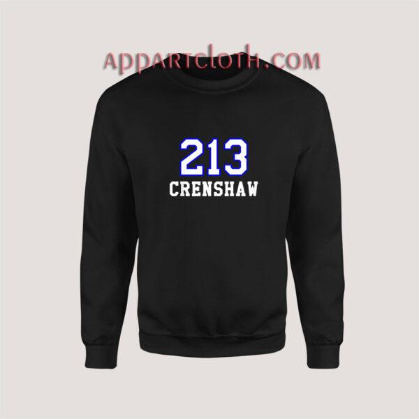 213 Crenshaw Los Angeles Sweatshirt for Unisex