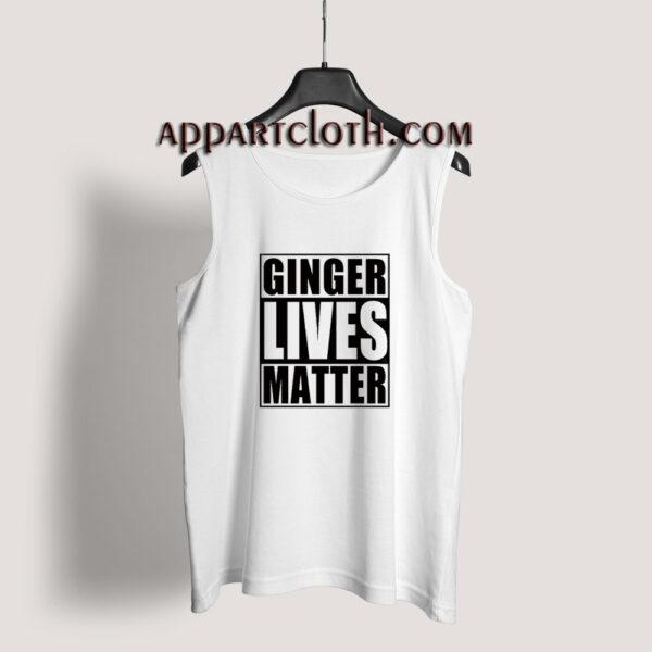 Ginger Lives Matter Tank Top for Unisex