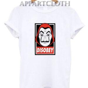 Disobey - Dali Mask Money Heist T-Shirt
