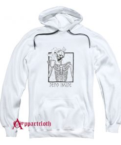 Dead Inside Skeleton Coffee Halloween Hoodie