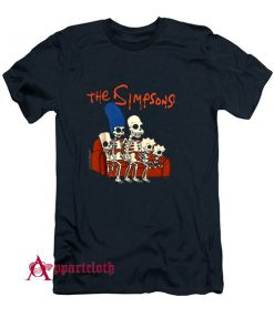 The Simpsons Halloween Skeleton Family T-Shirt