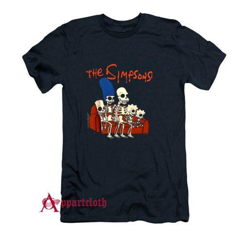 The Simpsons Halloween Skeleton Family T-Shirt