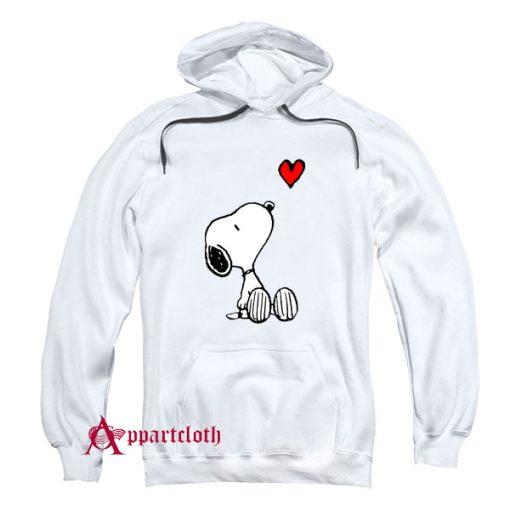 Peanuts Heart Sitting Snoopy Hoodie
