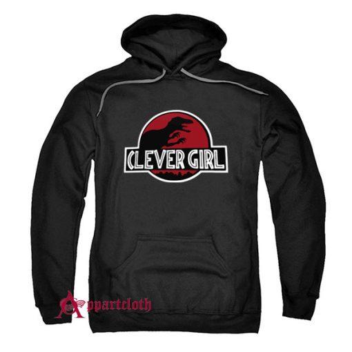 Clever Girl Velociraptor Dinosaur Parody Hoodie