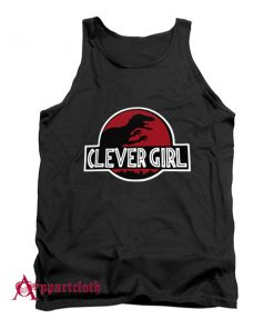 Clever Girl Velociraptor Dinosaur Parody Tank Top