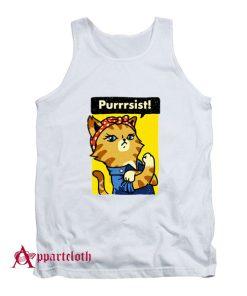 Purrrsist! Resist Persist Pussy Cat Funny Tank Top