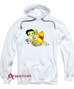 Betty Boop And Winnie Pooh Take It Easy Hoodie