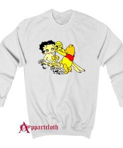 Betty Boop And Winnie Pooh Take It Easy Sweatshirt
