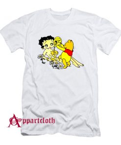 Betty Boop And Winnie Pooh Take It Easy T-Shirt