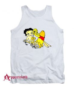 Betty Boop And Winnie Pooh Take It Easy Tank Top
