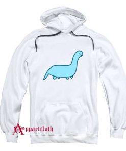 Cute Blue Dino Hoodie