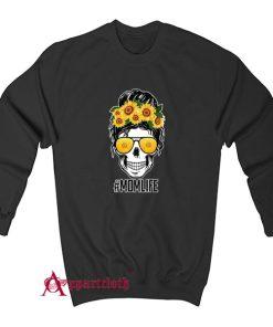 Mom Life Sunflower Skull Sweatshirt