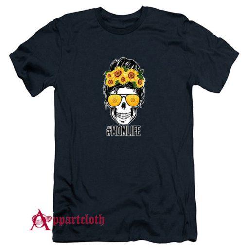 Mom Life Sunflower Skull T-Shirt