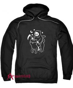 Death Rides A Black Cat Hoodie